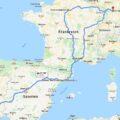 Karte Tour Stuttgart Madrid Lisabon Barcelona